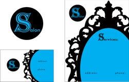 Beauty salon modern Logo, Business Card  2 x 3.5, Flyer 4.25 x 5.5 Stock Photo