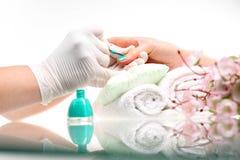 Beauty salon nail painting Royalty Free Stock Image