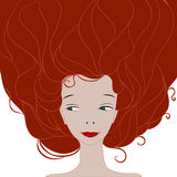 Girl red hair Royalty Free Stock Photography