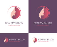 Beauty salon round logo Royalty Free Stock Photography