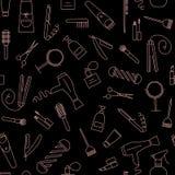 Beauty salon seamless pattern. Royalty Free Stock Photo