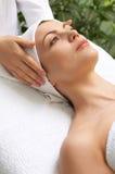 Beauty salon series. Young beautiful woman getting treatment at beauty salon Stock Photo