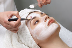 Beauty salon series, facial mask Royalty Free Stock Photos