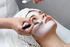Beauty salon series, facial mask Stock Photography