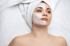 Beauty salon series: facial mask Royalty Free Stock Image