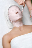 Beauty salon series, facial mask Stock Photo