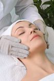 Beauty salon series. facial massage Royalty Free Stock Images