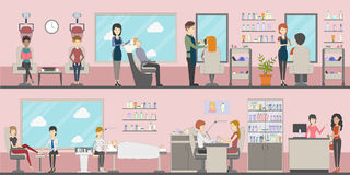 Beauty salon set. stock illustration