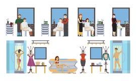 Beauty salon set. Isolated icons on white background Stock Images