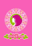 Beauty salon and spa logo Royalty Free Stock Images