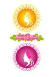 Beauty salon and spa logo Royalty Free Stock Photography