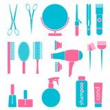 Beauty salon tools Royalty Free Stock Photos