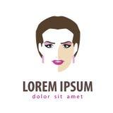 Beauty salon vector logo design template. girl Royalty Free Stock Photo