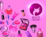 Beauty salon vector logo design template Royalty Free Stock Image