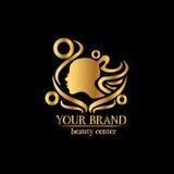 Beauty salon vector logo design template. Stylized woman head vector illustration. Hair salon sign. Hair dresser emblem. Hair stylist label Royalty Free Stock Image