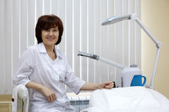 Beauty salon woman worker. Stock Photography