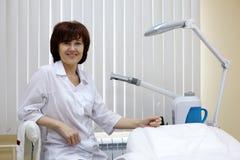 Beauty salon woman worker. Stock Photography