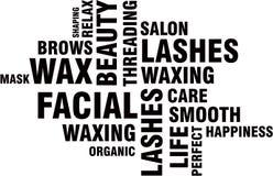 Beauty Salon Word Cloud Royalty Free Stock Image