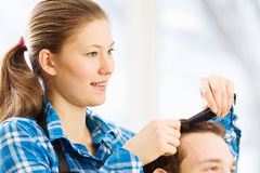 At beauty salon Royalty Free Stock Photos