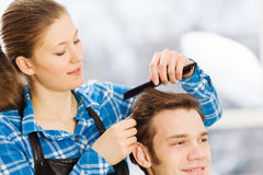 At beauty salon Royalty Free Stock Photography