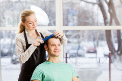 At beauty salon Royalty Free Stock Photo