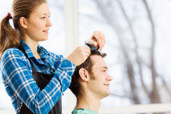 At beauty salon Royalty Free Stock Images