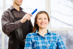 At beauty salon Stock Photos