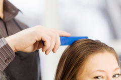 At beauty salon Stock Images