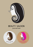 Beauty Saloon. Art vector logo design royalty free illustration