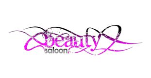Beauty saloon and fashion logo. In pink with black tribal elements stock illustration