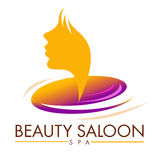 Beauty Saloon Logo. Illustration representing a beauty spa saloon logo with a spiral and a female profile royalty free illustration