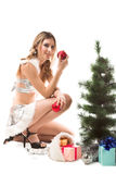 Beauty santa Royalty Free Stock Photography