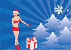 Beauty Santa Girl Stock Photography