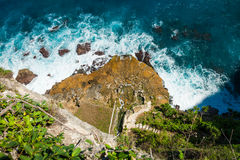 Beauty scenic landscape big rocks tropical island and ocean waves Royalty Free Stock Photography