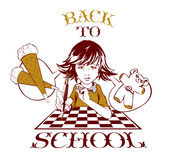 Beauty school girl Royalty Free Stock Images