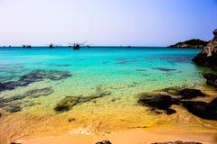Beauty sea Island Si chang Thailand Villagers Si chang Stock Image