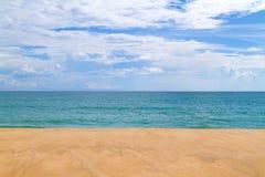 Beauty of Sea sand sky Royalty Free Stock Photo