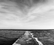 Beauty Sea and sky. And moorage Stock Photography