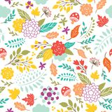 Beauty seamless floral pattern Royalty Free Stock Photo