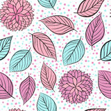 Beauty seamless floral pink  background Royalty Free Stock Photo
