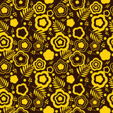 Beauty seamless pattern with yellow flowers Stock Image