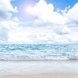 Beauty seascape under blue clouds Stock Image