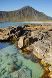 Lofoten, Beauty Seashore Royalty Free Stock Images
