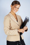 Beauty secretary with documents Stock Photo