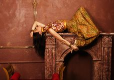 Beauty sensual young woman in oriental style in Stock Photo