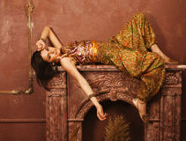 Beauty sensual young woman  oriental style in Royalty Free Stock Images