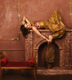Beauty sensual young woman in oriental style Royalty Free Stock Photography