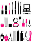 Beauty set of cosmetics icon Stock Photo