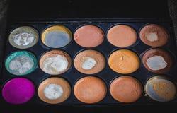 Beauty set gift on black background stock images