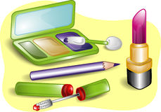 Beauty set illustration Stock Photography